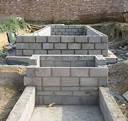 Formal ponds pwg b for Concrete block pond construction